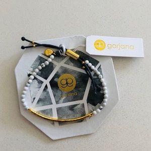 Gorjana Power Gemstone Bracelet Howlite Gold NWT
